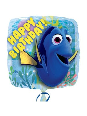 BALÃO METALIZADO HAPPY BIRTHDAY DORY 18""