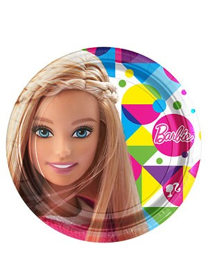 PRATOS DESCARTAVEIS 23CM BARBIE