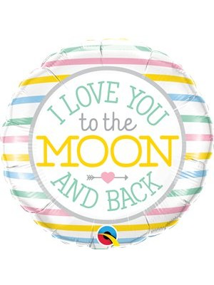 BALÃO METALIZADO LOVE YOU TO THE MOON
