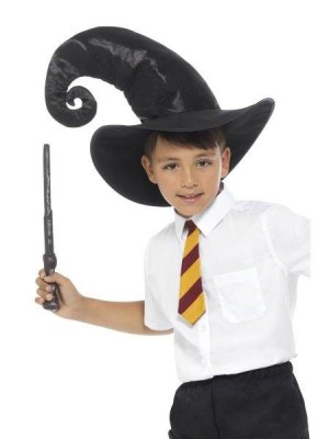 KIT VARINHA E CHAPEU HARRY POTTER