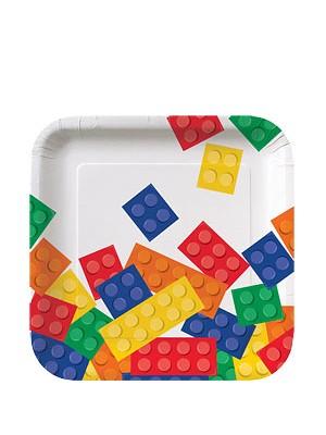 PRATOS DESCARTAVEIS LEGO 17CM