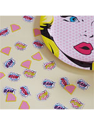 CONFETIS PINK POP ART SUPERHERO