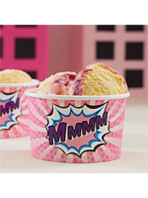 COPOS GELADO PINK POP ART SUPERHERO