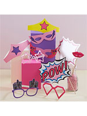 KIT FOTOS PINK POP ART SUPERHERO
